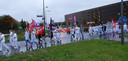 Personeel voert actie bij het Amphia Ziekenhuis in Breda.