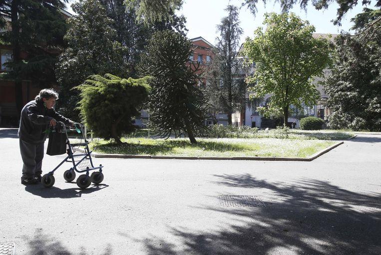 Het verpleeghuis Fondazione Sacra Famiglia, waar Berlusconi zijn taakstraf uitvoert. Beeld ap