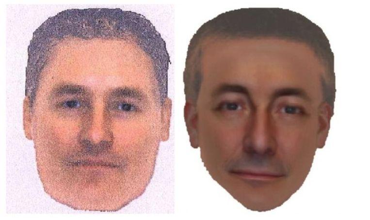 De compositieopname van de man die door de Britse politie wordt gezocht in de verdwijningszaak van Madeleine McCann. Beeld Metropolitan Police