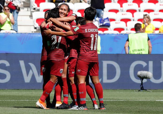 Kanjana Sung-Ngoen redt bij een 4-0-achterstand de eer voor Thailand.