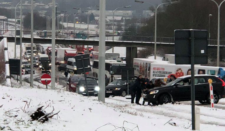 Een ongeval in Asse.