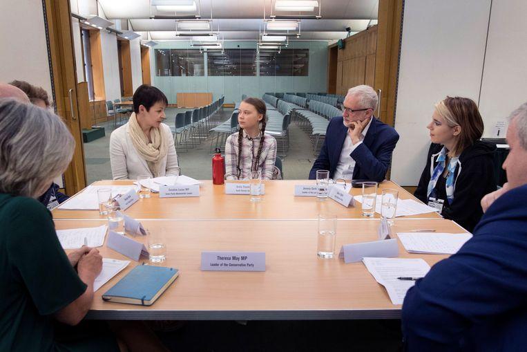 De stoel voor premier May bleef leeg.