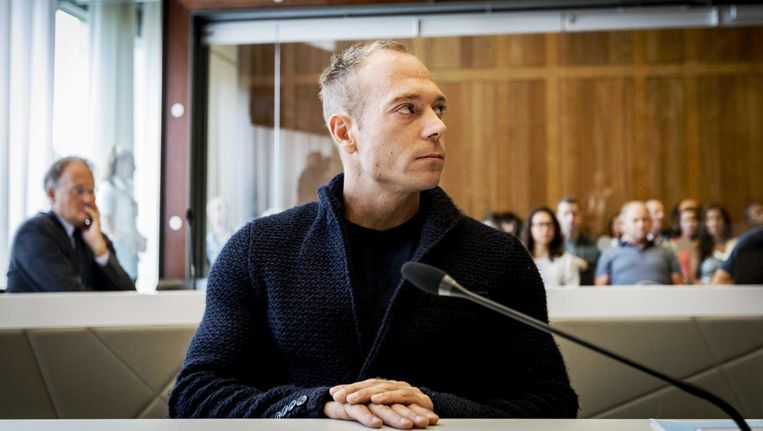 Yuri van Gelder in de rechtbank. Beeld anp