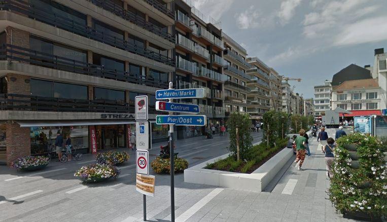 De Kerkstraat in Blankenberge.