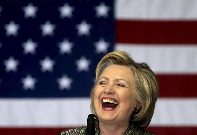 Hillary Clinton tijdens haar campagne. Beeld REUTERS