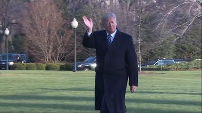Trump negeert vragen over Stormy Daniels bij aankomst in Washington