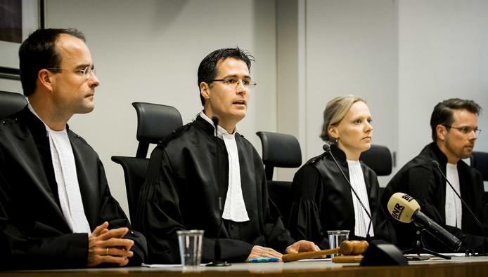 Rechters in de Utrechtse rechtbank.