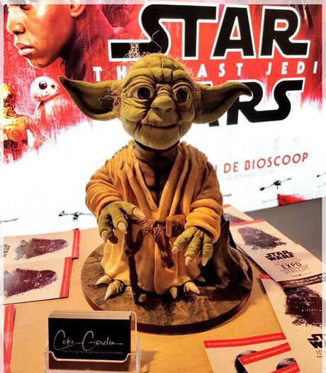 Yoda-taart waar Houtense vier dagen aan werkte, gestolen uit bioscoop