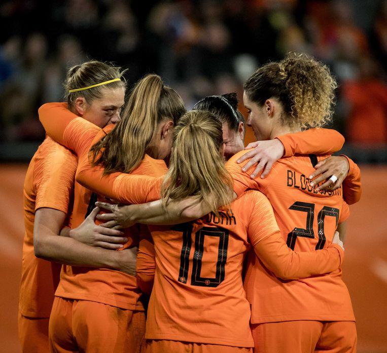 De Nederlandse voetbalsters spelen op het WK in 2019. Beeld ANP