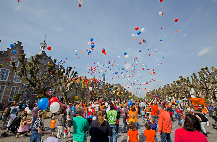 Een van de voorgaande vieringen van Koningsdag in Geertruidenberg.