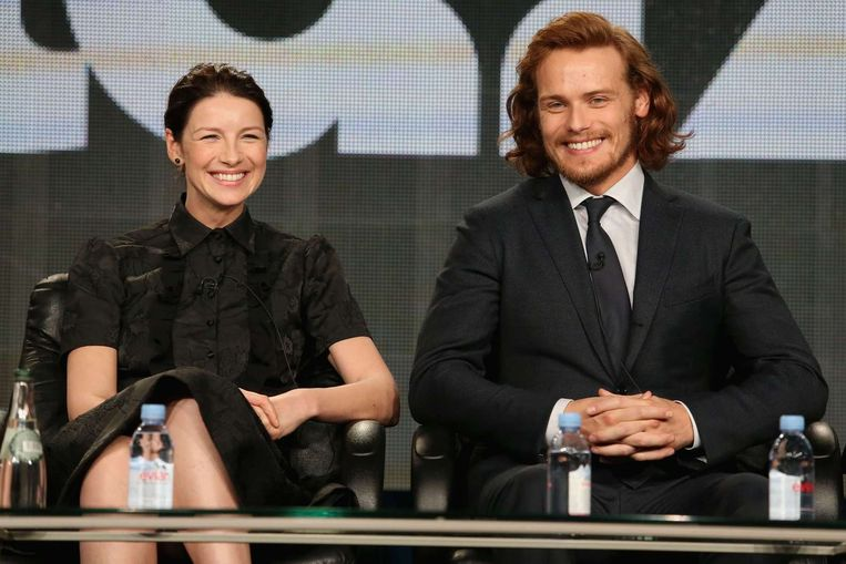 De acteurs Caitriona Balfe (L) en Sam Heughan van Outlander. Beeld anp