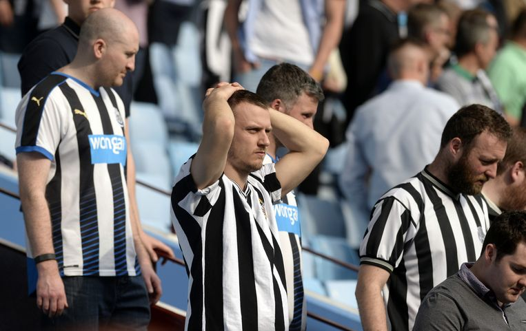 Ongeloof bij supporters van Newcastle. Beeld reuters