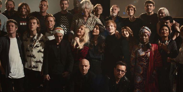 De artiesten die meezingen op de nieuwe Band Aid single Beeld null