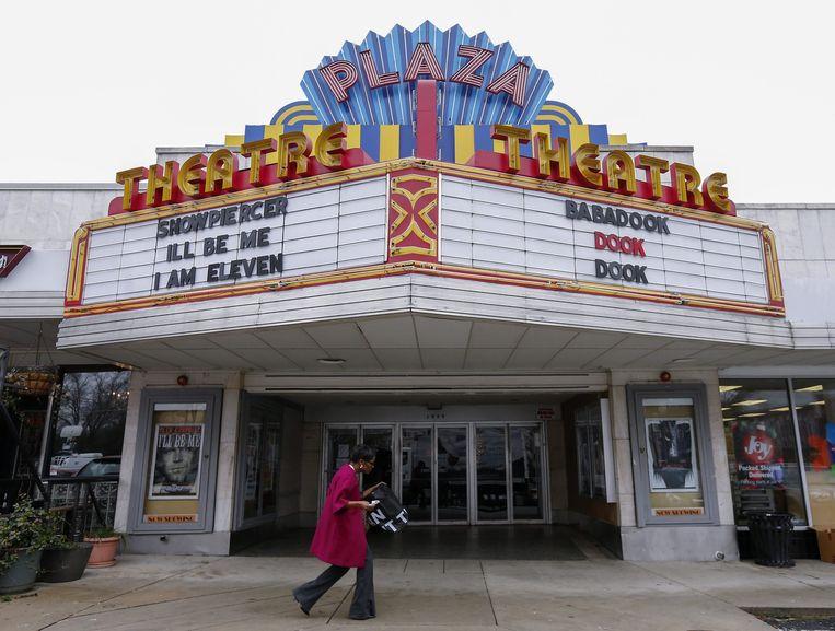 Het Plaza Theatre in Atlanta waar 'The Interview' te zien zal zijn.