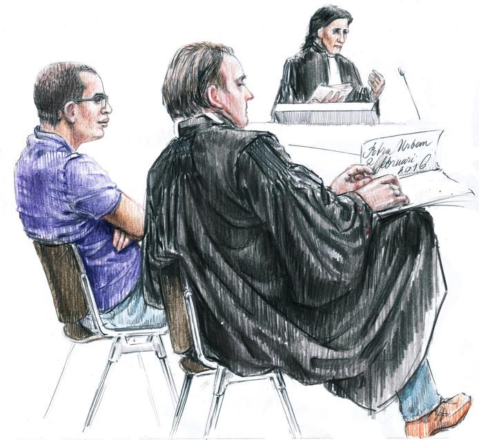 De Nijmeegse studentengluurder in de Arnhemse rechtbank.