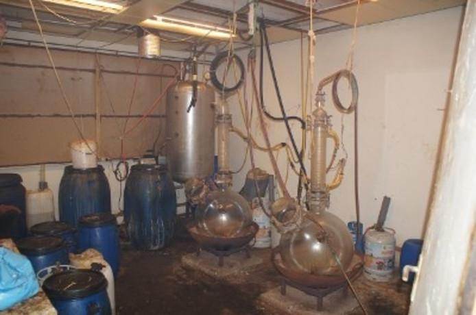 Drugslaboratorium gevonden in Roosendaal.