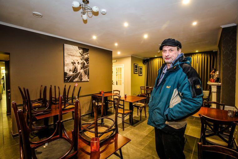 Ronny Pieters (25) in zijn restaurant De Kopernunne, dat inmiddels gesloten is.