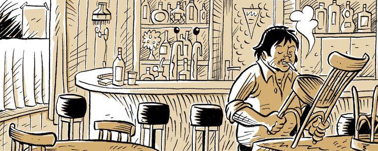 Fragment uit de stripbiografie Beeld -