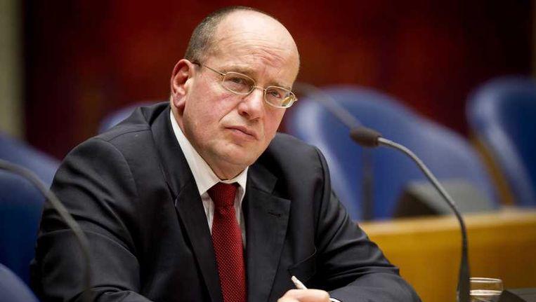 Staatssecretaris Fred Teeven (Veiligheid) zou volgens die plannen 11 van de 29 gevangenissen willen sluiten Beeld anp