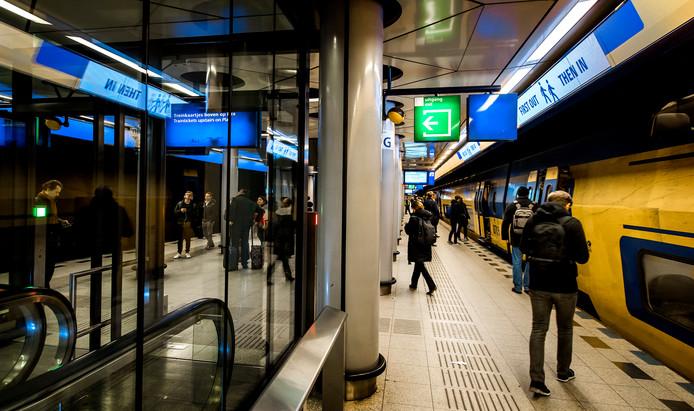 Het treinstation bij Schiphol.