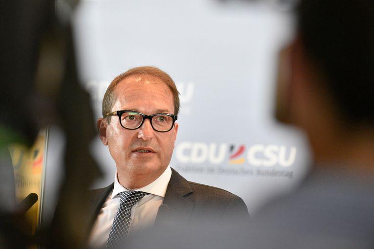 CSU-fractieleider Alexander Dobrindt
