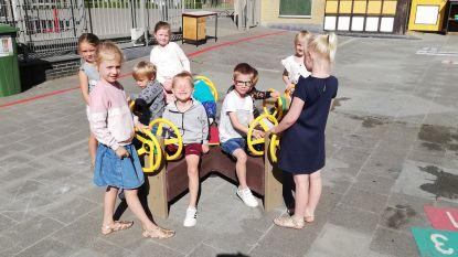 Ook blij weerzien voor kleutertjes van vrije basisschool Sint-Benedictus in Poperinge
