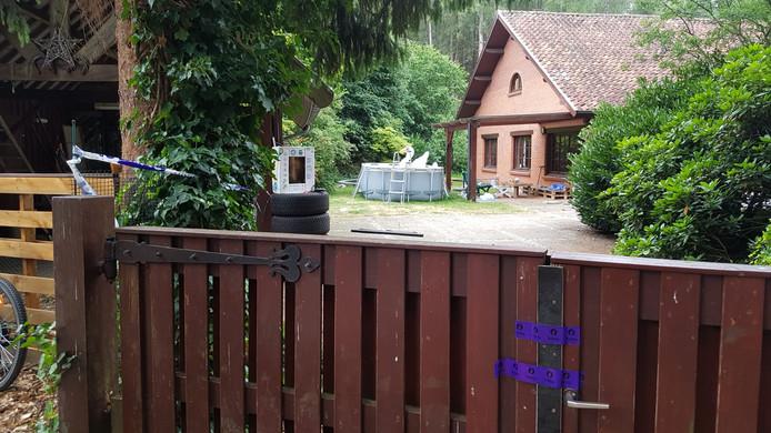 Het huis waar het gezinsdrama plaatsvond.