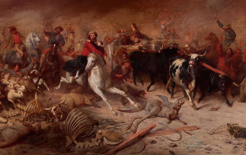 'Black Thursday', schilderij van William Strutt uit 1864. Beeld