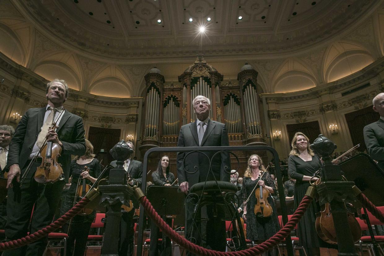 Dirigent Bernard Haitink na zijn laatste concert in Nederland
