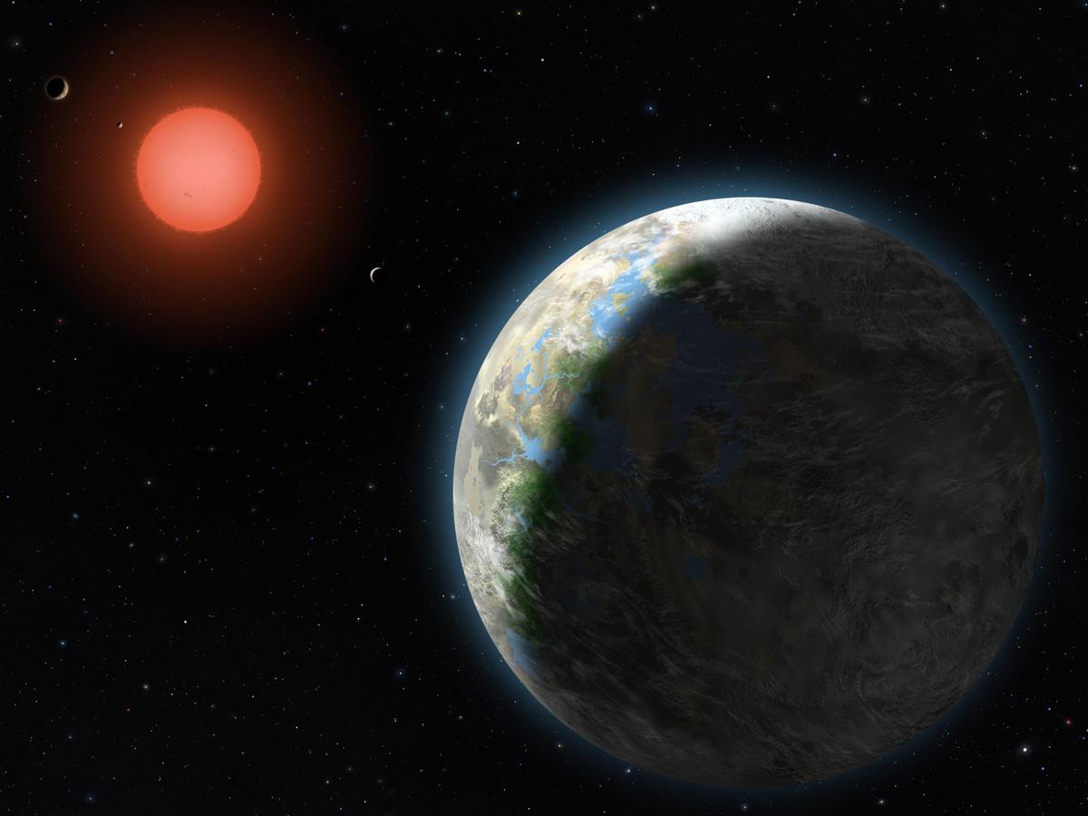 De planeet Gliese 581g.