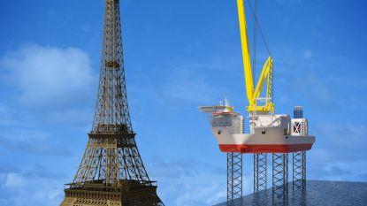 Nieuw 'schip op poten' van Jan De Nul is even hoog als Eiffeltoren