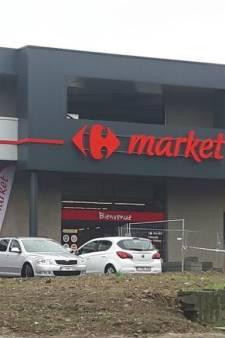 Le Carrefour Market de Flémalle braqué