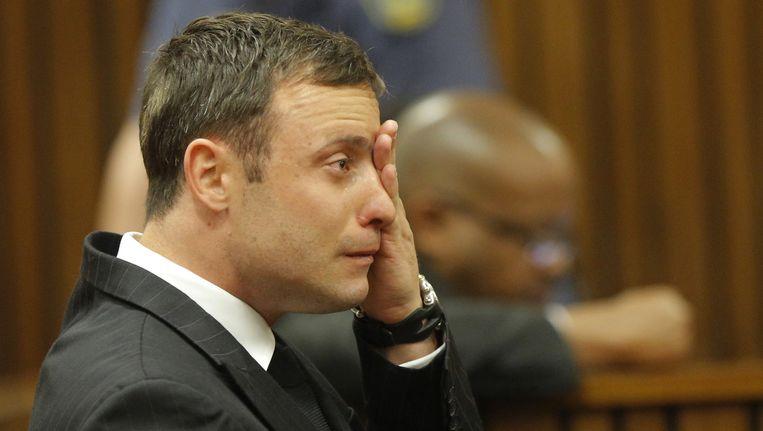 Oscar Pistorius vandaag in de rechtbank. Beeld ap