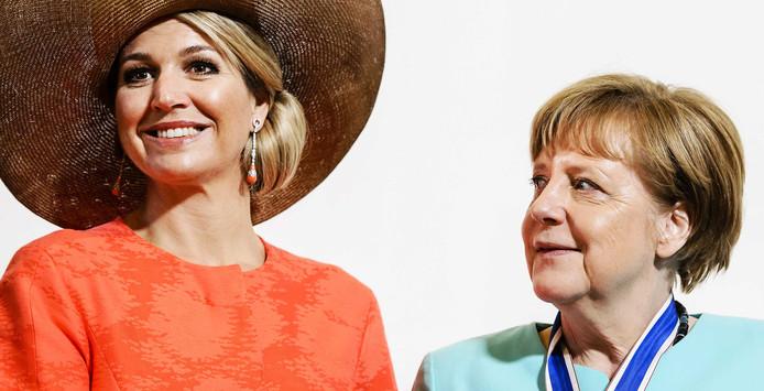 Koningin Maxima en Angela Merkel tijdens een eerdere ontmoeting in 2016.
