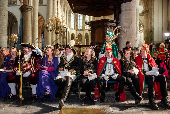 Traditionele Oeledienst in de grote kerk van Breda.