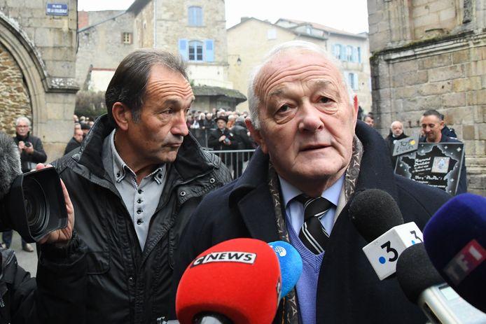 Gilbert Duclos-Lassalle (links) en oud Tour-directeur Jean-Marie Leblanc.