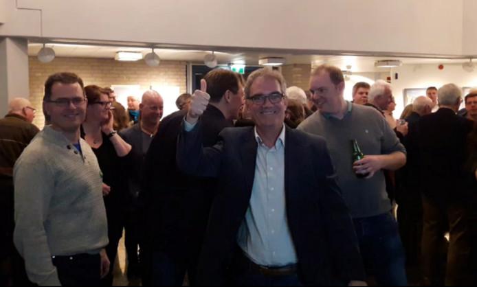 Govert Schröder (nummer vier op de lijst van D66) is blij dat zijn partij een zetel krijgt in de raad.