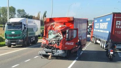 Vrachtwagen rijd