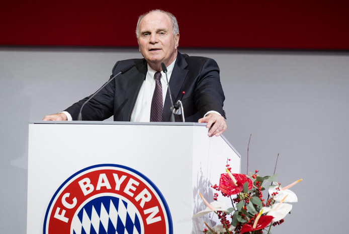 Bayern-voorzitter Uli Hoeness