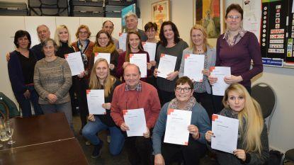 Rode Kruis Ninove reikt brevetten uit aan geslaagde cursisten