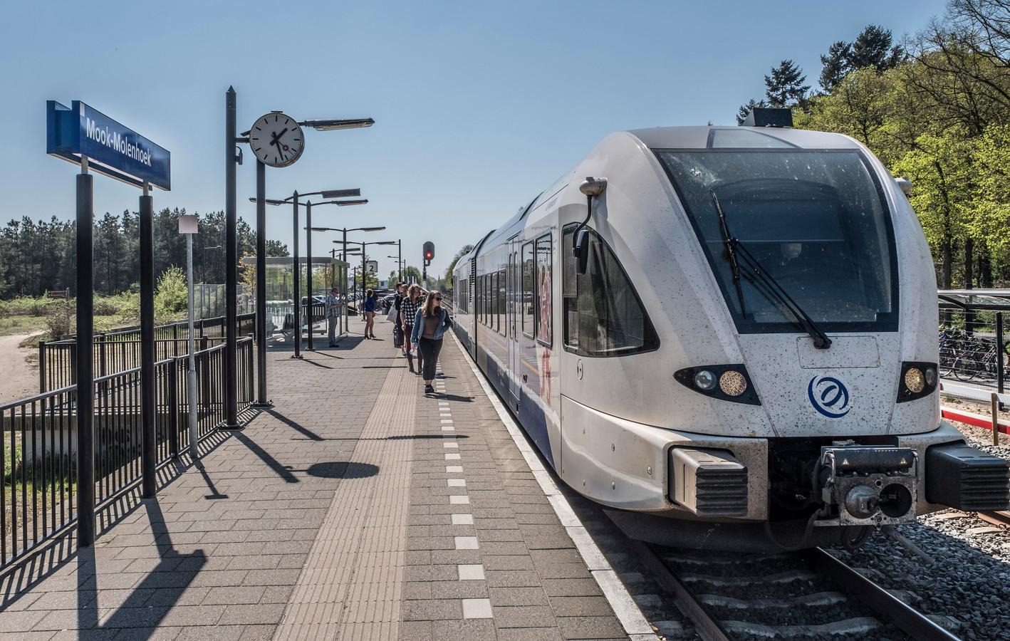 Station Molenhoek. Een van de stations op de Maaslijn