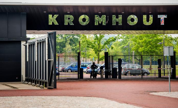 De ingang van de Kromhoutkazerne in Utrecht, het hoofdkwartier van de Koninklijke Landmacht.