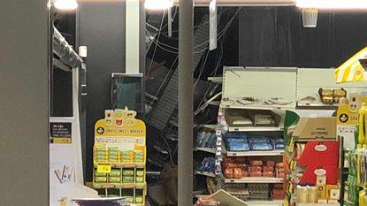 Carrefour met ingestort dak na wolkbreuk weer open