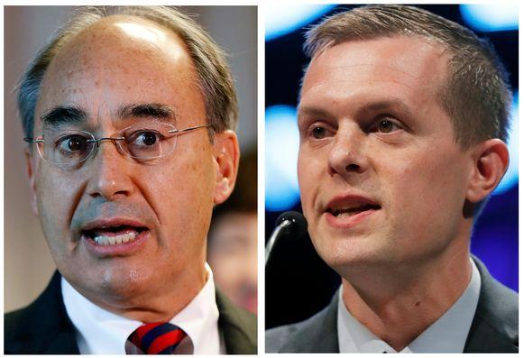 In Main verloor de Republikein Bruce Poliquin (links) van zijn Democratische tegenstander Bruce Golden (rechts).