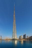 De Burj Khalifa-wolkenkrabber in Dubai is sinds 2007 het hoogste gebouw ter wereld.