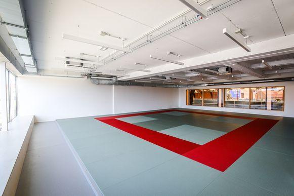 De vernieuwde judozaal.
