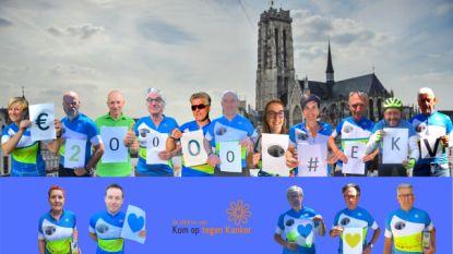Eeklose Kilometervreters geven vette cheque: 20.000 euro voor Kom op tegen Kanker