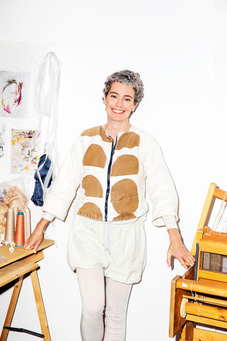 Pascale Gatzen, het hoofd van de Master Fashion Design van ArtEZ. Beeld Marie Wanders