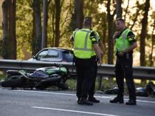 Filemijdende motorrijder zwaargewond op A20 bij Moordrecht
