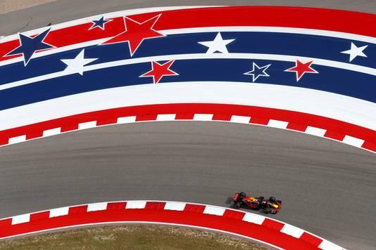 Verstappen bij de GP van Amerika.